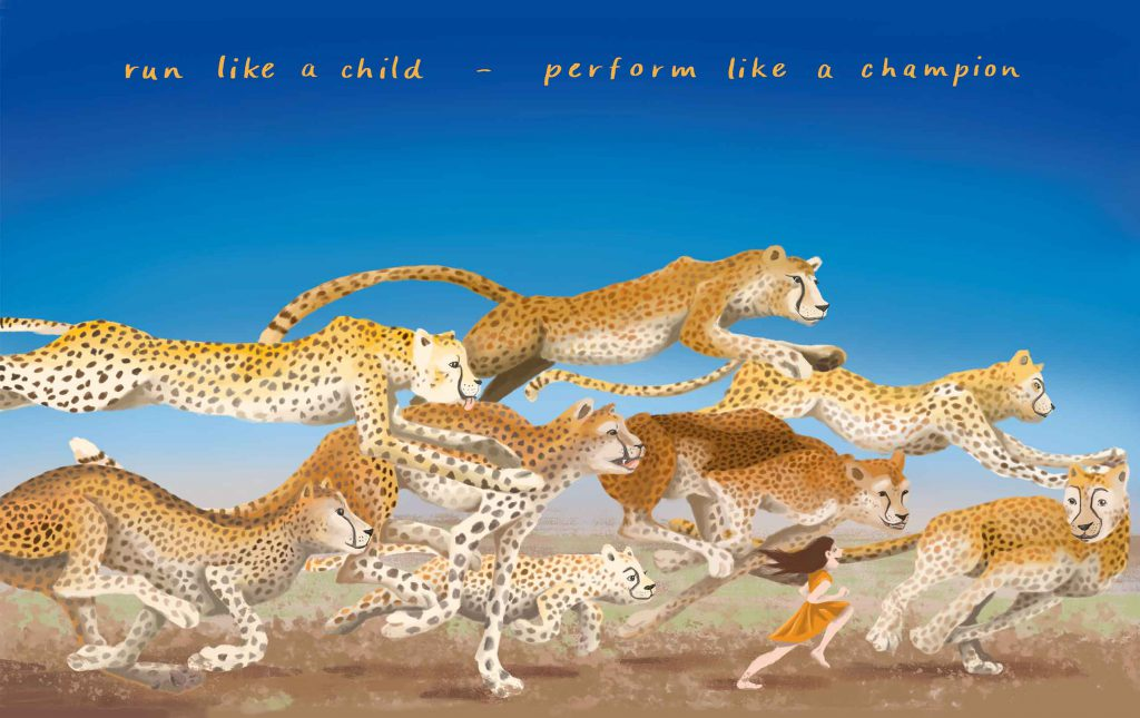 geparde postkarte