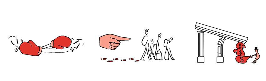 piktogramme refugees konkurenz state