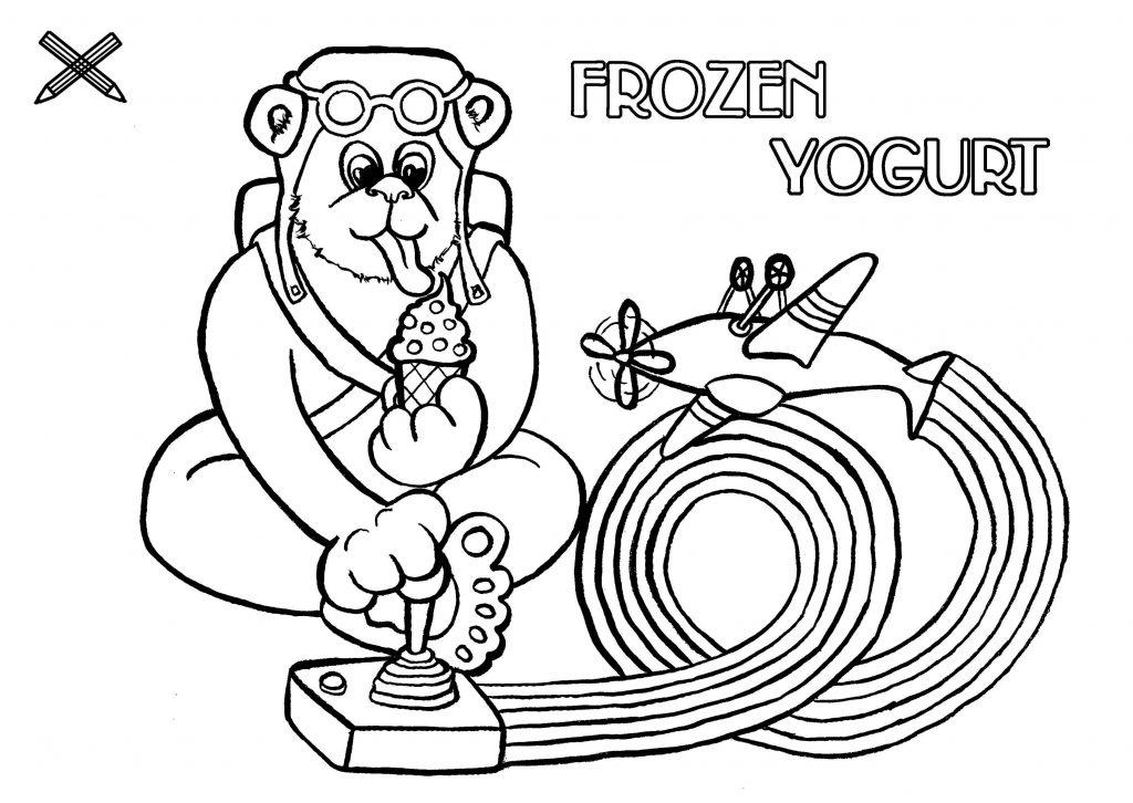 kinder menü frozen yoghurt