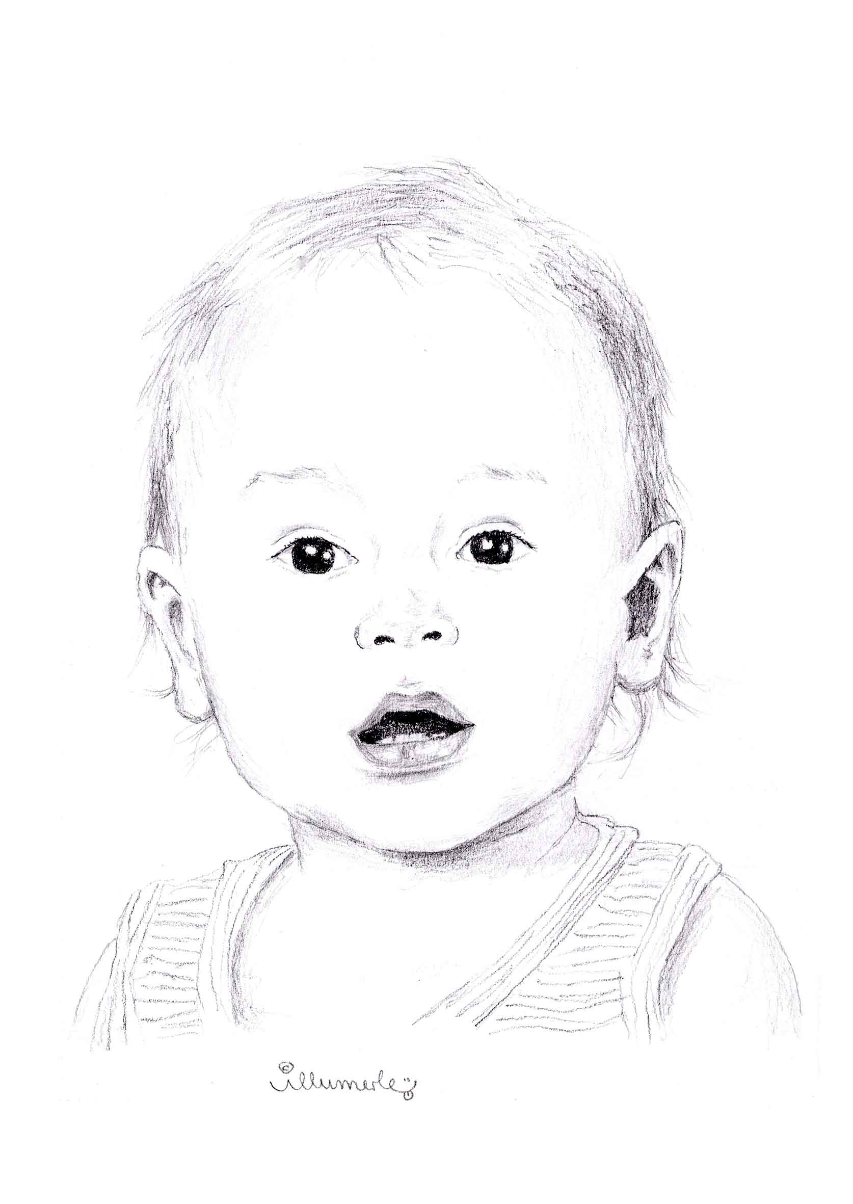 Porträt-s-w-schattiert-baby